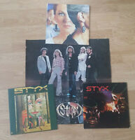 Lot of 3 Styx LP's Vinyl Vintage Play Tested  Kilroy Grand Illusion Pieces of 8