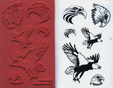 unmounted rubber stamps Eagles collection  6 images