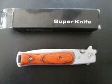 Knife Wood Grips Sharp 440 stainless steel. excellent