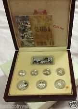 Singapore 2001 Year of the Snake 1cts - $5 Sterling Silver Proof Coin Set