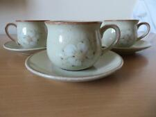 3 x DENBY DAYBREAK SMALL COFFEE CUPS & SAUCER EXCELLENT CONDITION