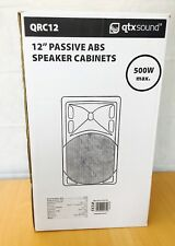 "New Boxed QTX 12"" EU / UK Passive ABS Speaker - 500w DJ / PA / Club Speaker"