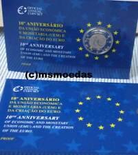Portugal 2 Euro Gedenkmünze 2009 UEM EMU 10 Jahre WWU Coin Set Blister Official
