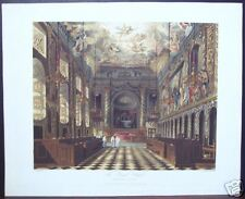 "W. H. Pyne: ""The Royal Chapel, Windsor Castle"" 1818"