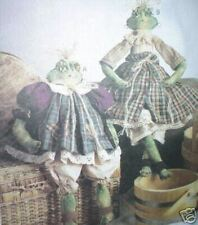 McCall's 9622 Frog Ribbit Sisters 17 & 22 Inch Pattern