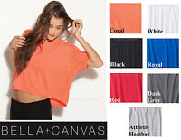 Bella Ladies Flowy T-Shirt Crop Top Boxy Cropped Top Sizes S-L/XL ALL Colors NEW