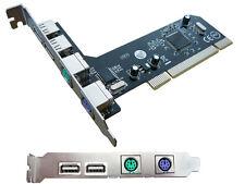 Carte controleur PCI  USB + PS/2 Clavier et souris PS2
