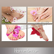 4pcs/set Nail Foot Spa Massage Salon Modern art Canvas picture printing painting