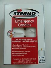 STERNO MINI COLUMN LONG BURNING CANDLES, 6 PACK, EMERGENCY, 9 HR BURN, UNSCENTED