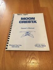 Moon Cresta Video Arcade Game Owner's Manual, Gremlin/Sega 1980