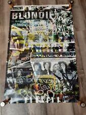 "Blondie 33"" x 22"" Promo Poster '99 Punk Debbie Harry Ramones Cbgb's Richard Hell"