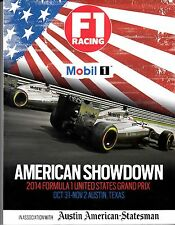 2014 FORMULA 1 UNITED STATES GRAND PRIX Magazine/ Oct. 31 - Nov.2 Austin, Texas
