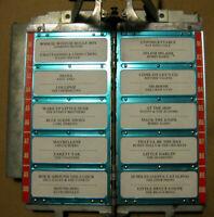 3W1 WALLBOX TitleStrip Holder Seeburg Select-O-Matic Jukebox Pages METALLIC BLUE