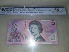 $5 dollar note With First Prefix  ''BA15'' PCGS GRADED 68 OPQ SUPERB GEM UNC