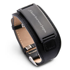 Personalize Custom Free Engraved Leather Stainless Steel Bracelet Cuff Wristband