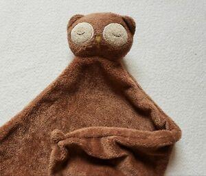 Angel Dear Owl Baby  Sleeping Security Blanket Plush Toy Brown Lovey