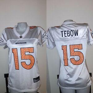 Denver Broncos Tim Tebow #15 Womens Reebok Team  Football Jersey Sz S 34 x 25