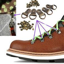 20x Boot lace rings Metal Rivet colored camp repair speed swivel shoe hook Kit