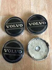 4x Volvo 60mm Wheel Centre Cap Hub Alloy Caps 3D New Logo Black/Silver