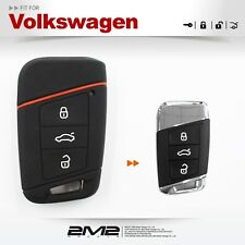 Silicon Keyfob Holder Case Chain Cover FIT For Volkswagen golf gti Touran sharan