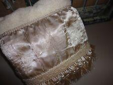Croscill Crinkled Platinum Fringes Corded Embellished (1) Bath Towel 26X46