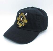 Polo Cap Black Baseball Hat Golden Logo Tennies Casual Unisex Sunhat 048