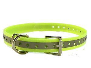 1 inch garmin DC40 GPS Dog Tracking Collar Strap for big dog yellow Reflective