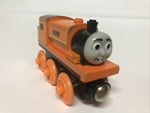 Thomas and Friends Wooden Railway Billy Magnetic Orange Tank Engine Train Used