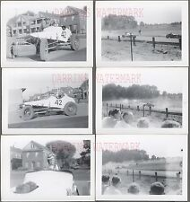 Lot of 6 Vintage 1952 Photos Dirt Track Racing Custom Race Car 714017