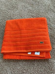 BNWT Lacoste cotton Bath towel, Orange