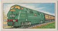 Modern Bristolian Railroad Train Engine  Vintage Trade Ad Card