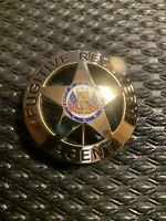 Fugitive Recovery Agent Badge Only Dog The Bounty Hunter Gold Cyber Deals