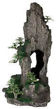 Grande Alto Rock & árboles bonsái Peces Cueva Ornamento de acuario peces tanque decoración