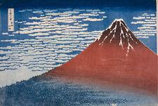 Thirty-six Views of Mt. Fuji: Fine Wind, Clear Morning Hokusai Vulkan B A3 02759