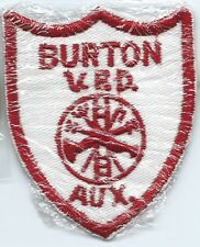 Burton Auxiliary Volunteer Fire Department VFD patch 3-1/2 X 2-3/4
