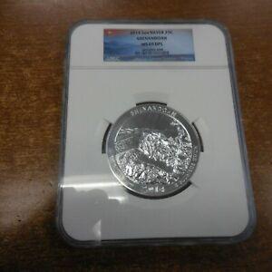 2014 5 Oz US Mint .999 Silver  SHENANDOAH 25c Coin NGC MS69 DPL