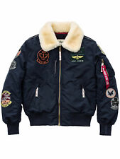Alpha Industries Jacke Injector III Patch Replica Blue Fellkragen 168128 07 6122