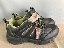 BNWT Mens Sz 11 Rivers Brand Lace Up  Black And Lime, Comfortable Hike/Bike Boot