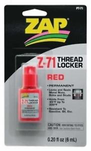 Zap Thread Locker Red 1Oz Pacer