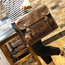 2020 Fashion Vintage Men's Leather messenger shoulder bag briefcase laptop bags