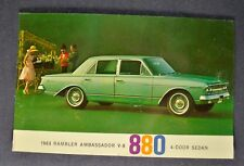 1963 Rambler Ambassador 880 4-Door Sedan Postcard Brochure Nash AMC