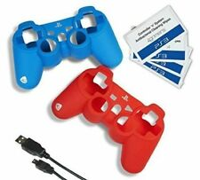 PlayStation 3 Accessory Kit Ps3 Silicone Jacket Controller Charger Cable Blue