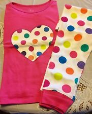 Bright Colored 2-pc Pink & Pocadots Little Girls PJ's..size 3