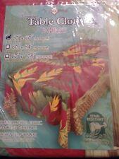 Kauhale Living banana leaves hawaiian print water resistant tablecloth 60x60