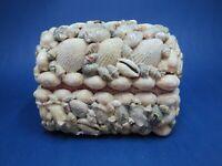 Sea Shell Jewelry Trinket Box Beach Decor with Diorama Inside Under Lid