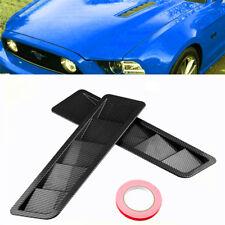 Rear Carbon Fiber Car Air Flow Intake Hood Scoop Vent Louver Panel Bonnet Cover