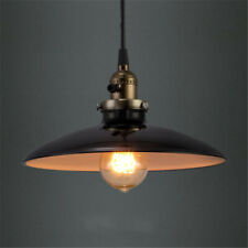Industrial Black Single Pendant Lighting Saucer Shade Ceiling Swag Light Fixture