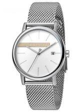 Esprit Timber Silver Mesh Uhr Damenuhr Edelstahl Datum Silber ES1G047M0045