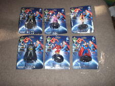 LOT OF 6  DC COMICS SUPERHEROS FIGURINES CAKE TOPPERS NIB NEW BATMAN SUPERMAN