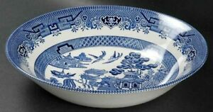 """Churchill England china Blue Willow pattern 8"""" vegetable or soup bowl"""